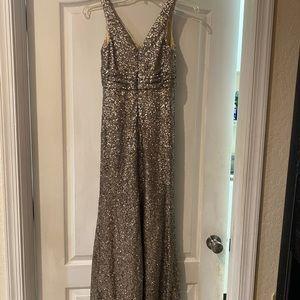 SORELLA VITA Dresses - Pewter junior bridesmaid dress
